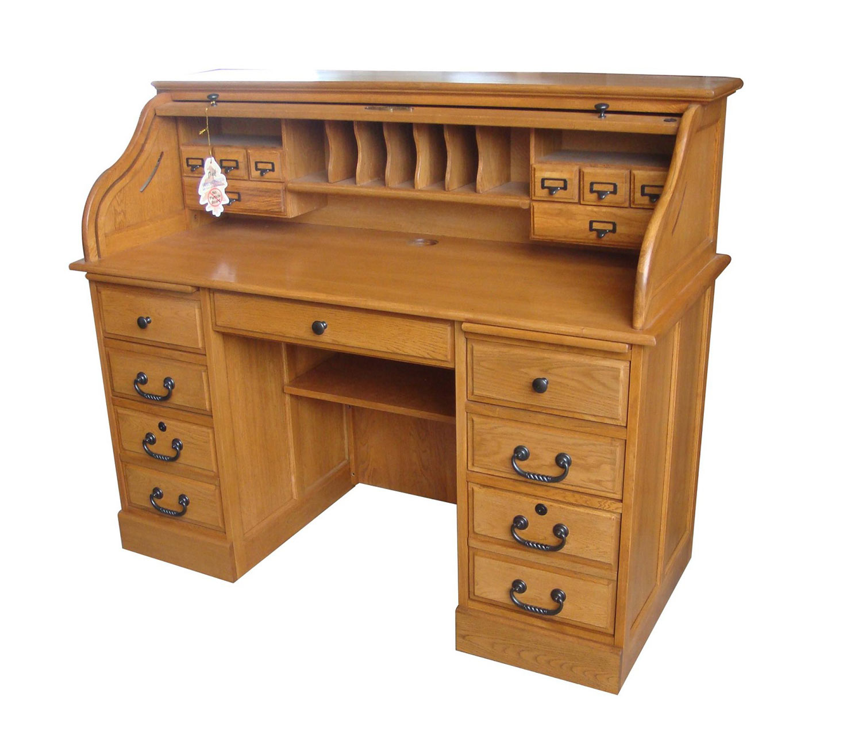 Chelsea Home Mylan 54-inch Roll Top Desk Top - Harvest Oak