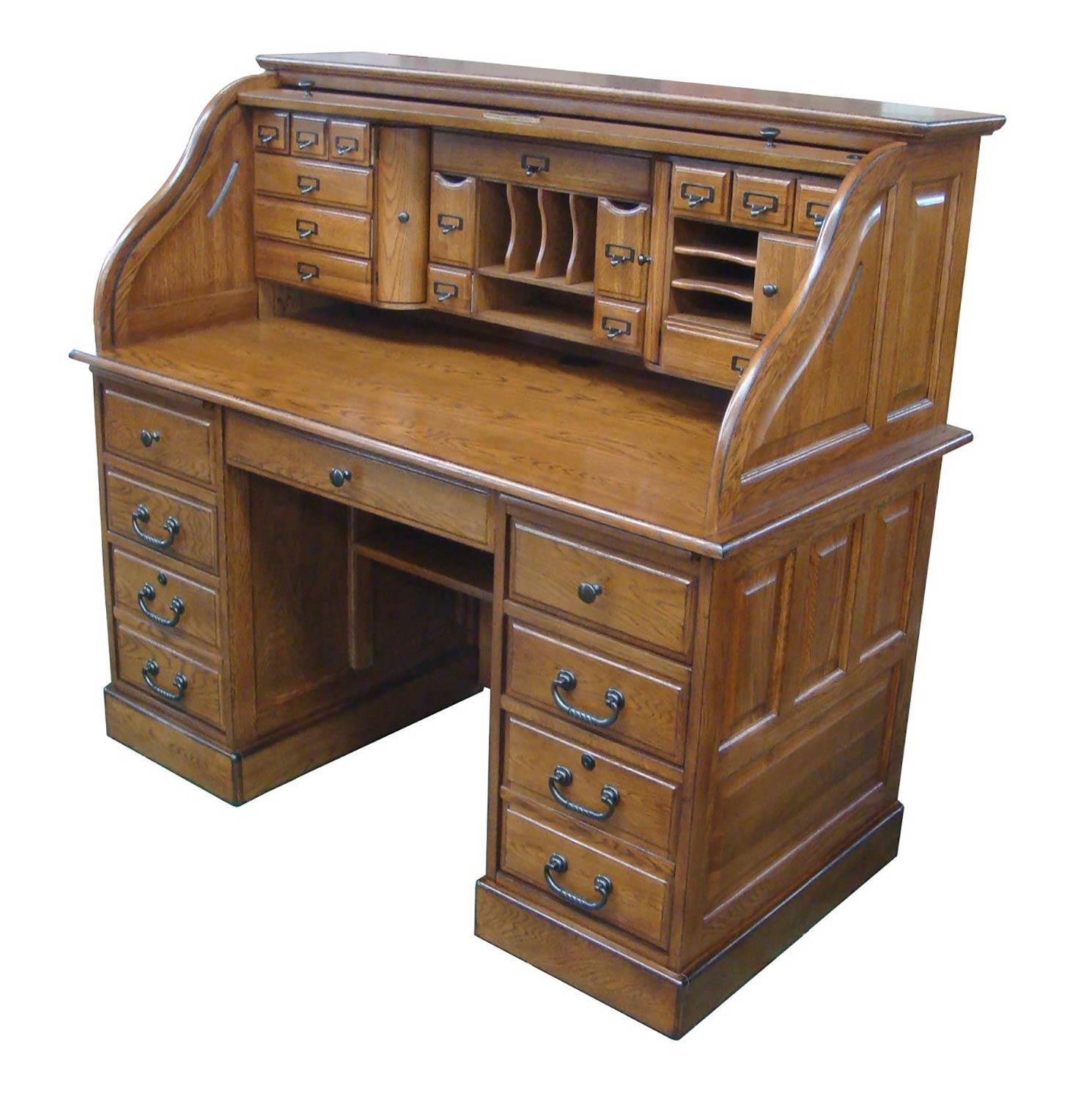 Chelsea Home Marlin 54-inch Deluxe Roll Top Desk Top - Burnished Walnut