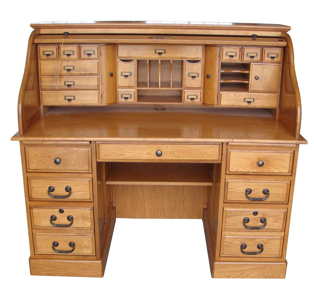 Chelsea Home Marlin 54-inch Deluxe Roll Top Desk Top - Harvest Oak