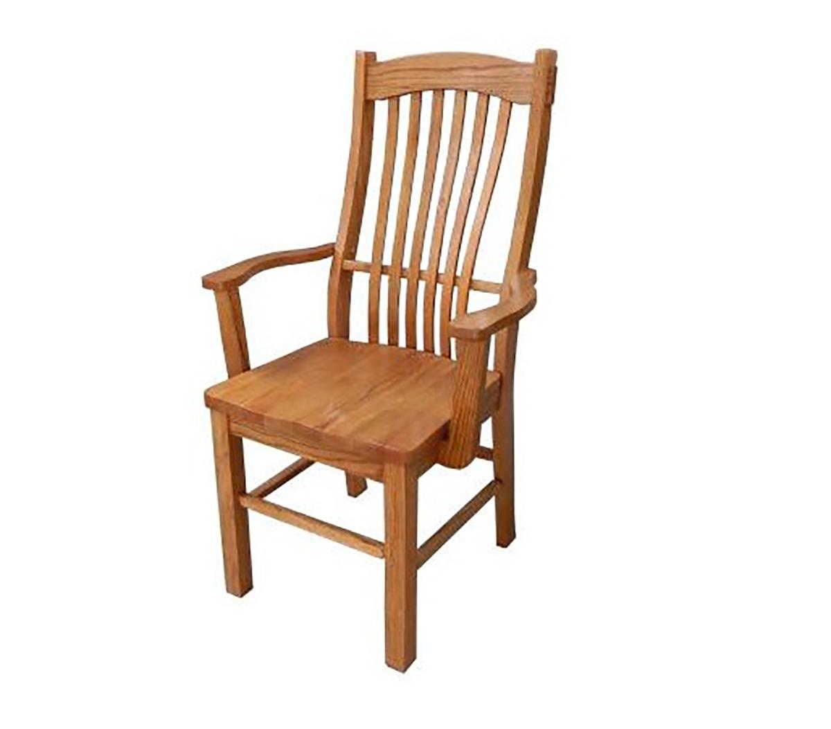 Chelsea Home Backwood Arm Chair - Hervest Oak