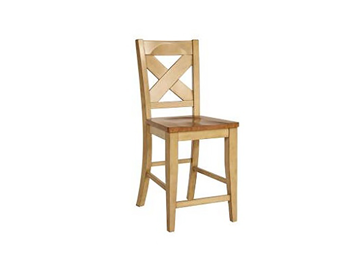 Chelsea Home Tyme 24-inch Barstool - Two Tone