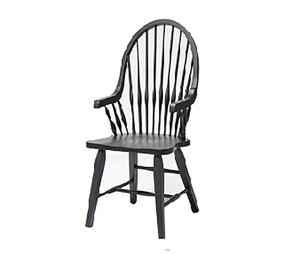 Chelsea Home Teakwood Arm Chair - Black
