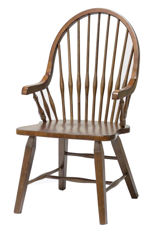 Chelsea Home Teakwood Arm Chair - Tobacco
