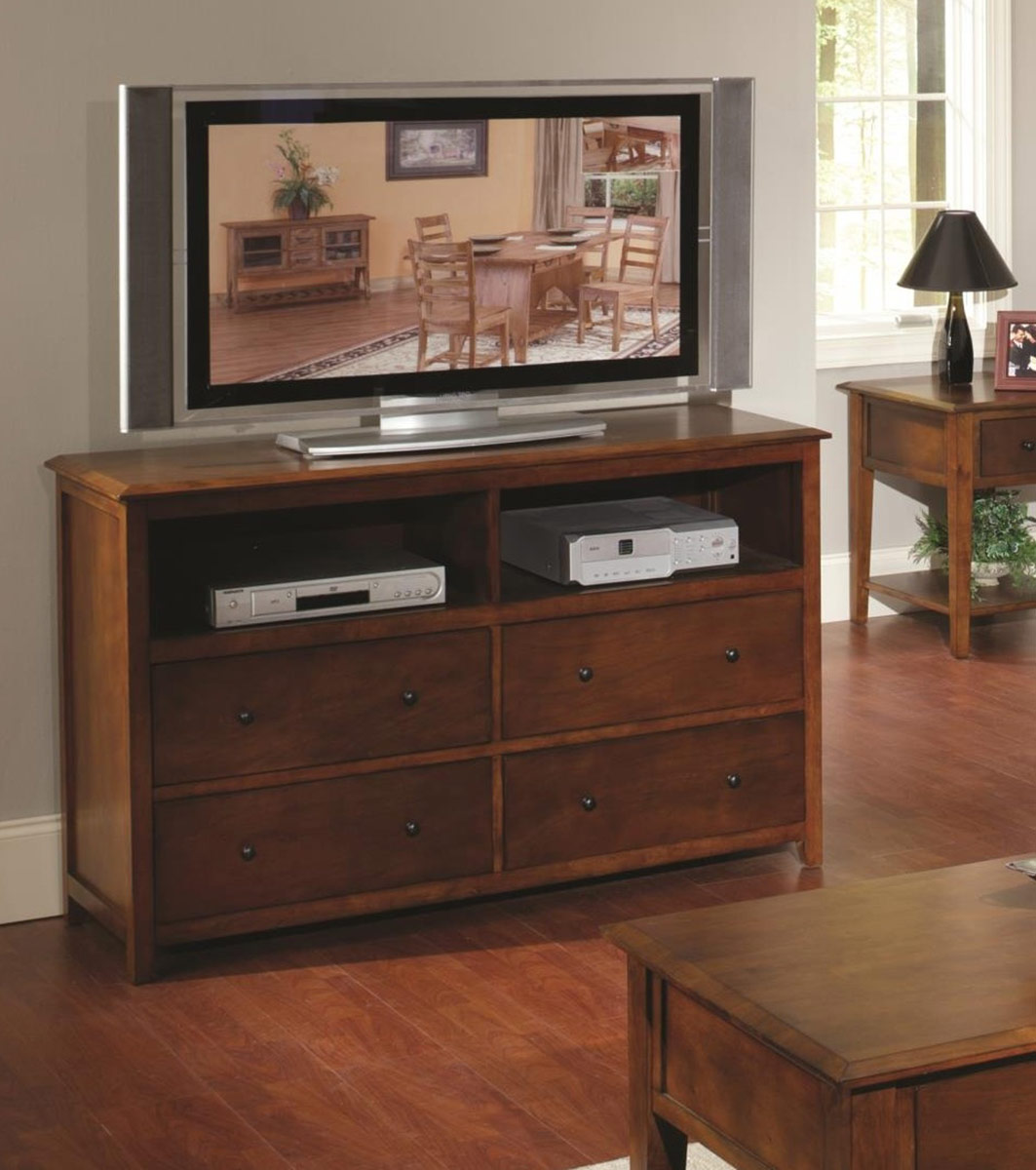 Chelsea Home Becket Entertainment Center - Tobacco