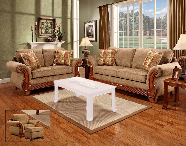 Chelsea Home Furniture Shannen Sofa Set Radar Mocha 8405 Sofa Set
