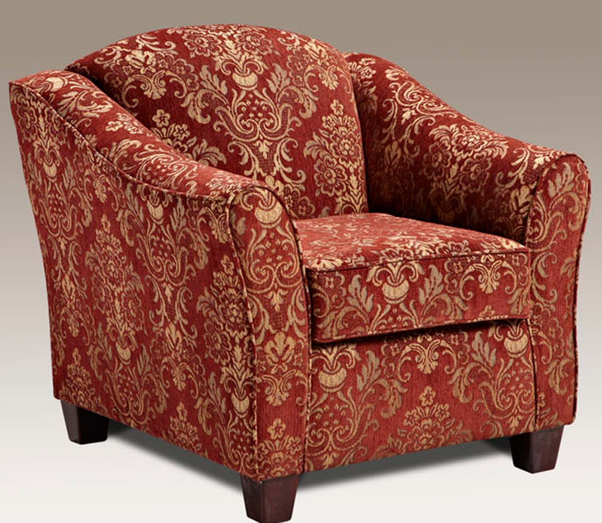 Chelsea Home Linda Accent Chair - Ravello Wine - Chelsea
