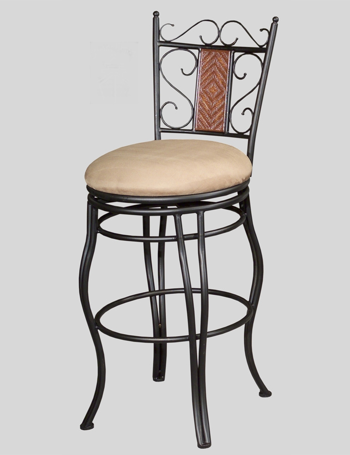 0708 30 Inch Swivel Memory Return Bar Height Stool - Chintaly Imports