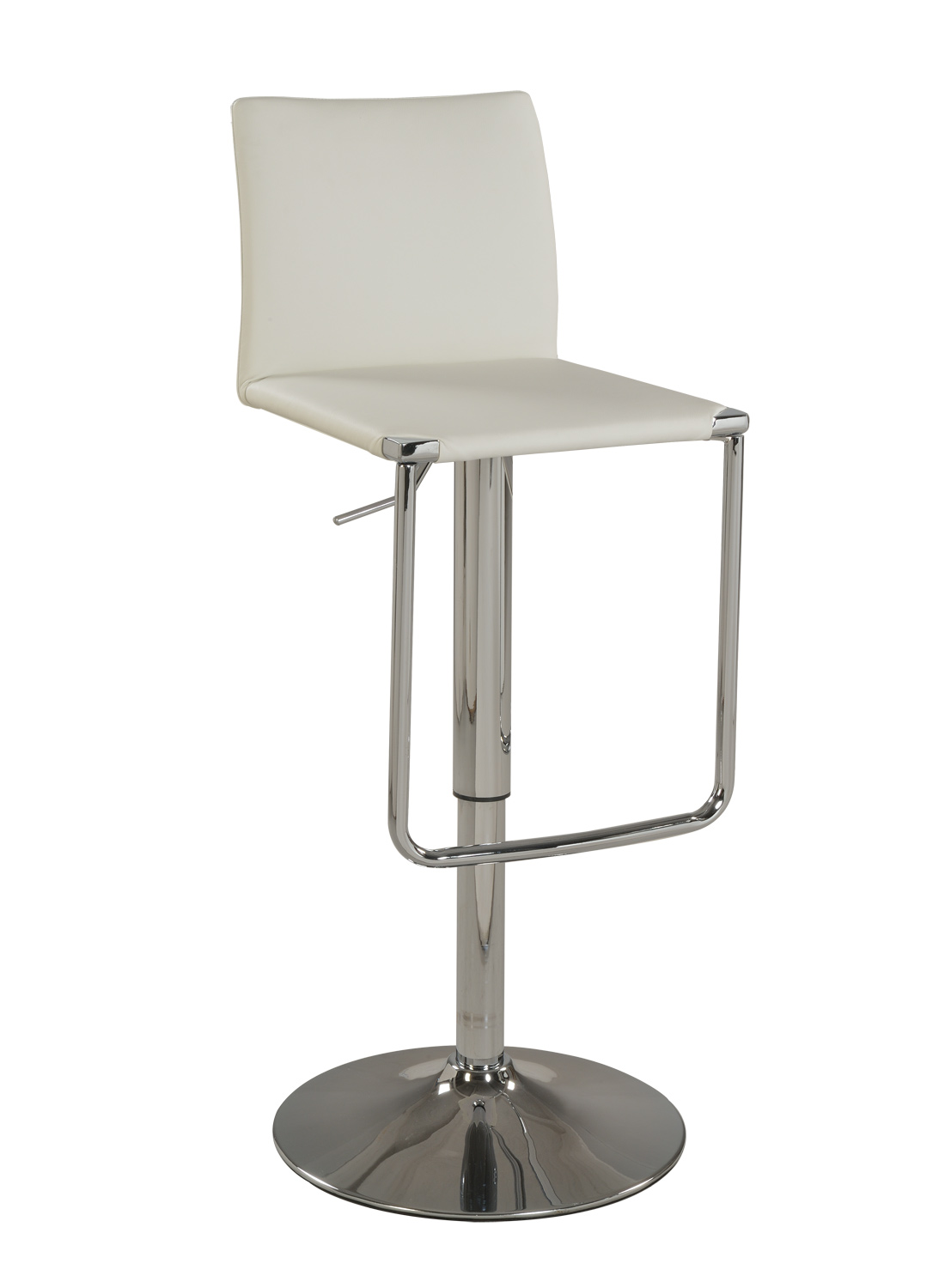 Chintaly Imports 0801 Pneumatic Gas Lift Adjustable Height Stool - Chrome
