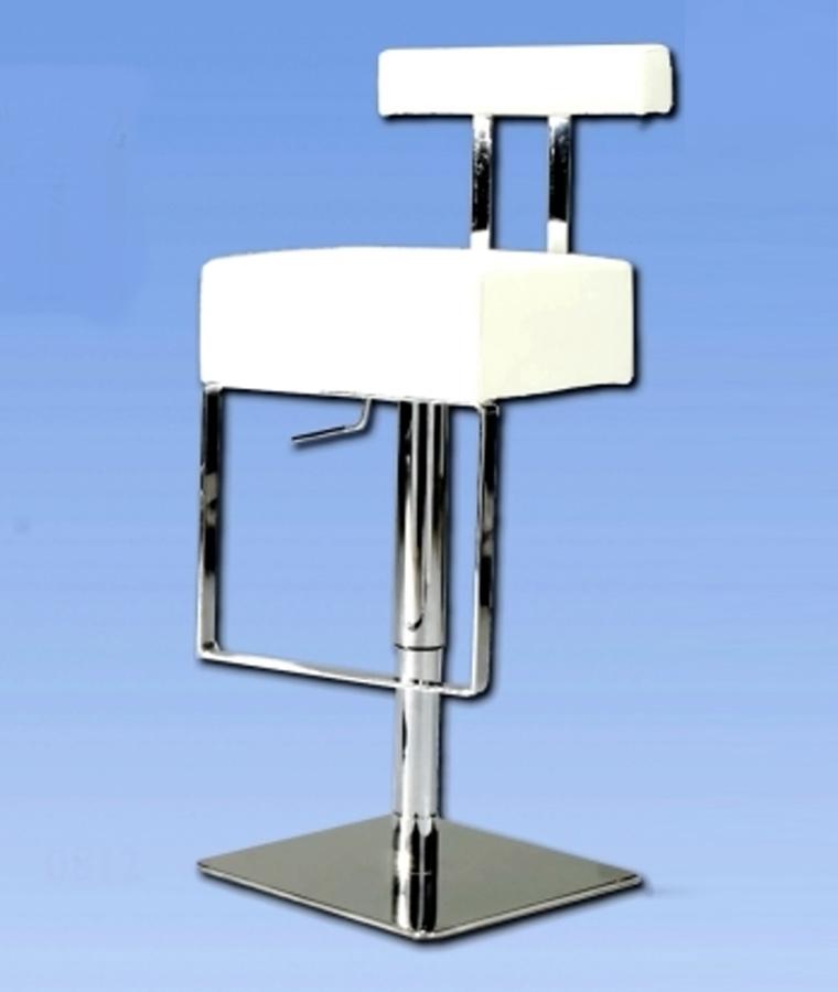 Chintaly Imports 0812 Adjustable Height Swivel Stool - White