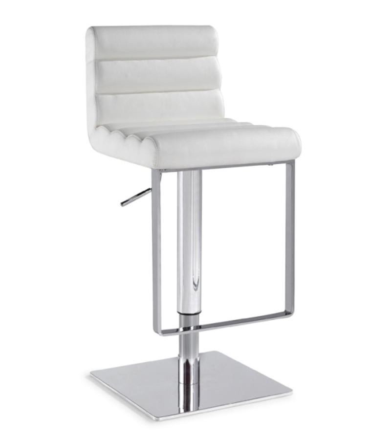 Chintaly Imports 0830 Adjustable Height Swivel Stool - White
