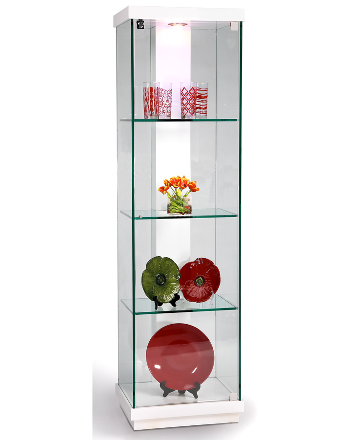 Chintaly Imports White Accent Glass Curio