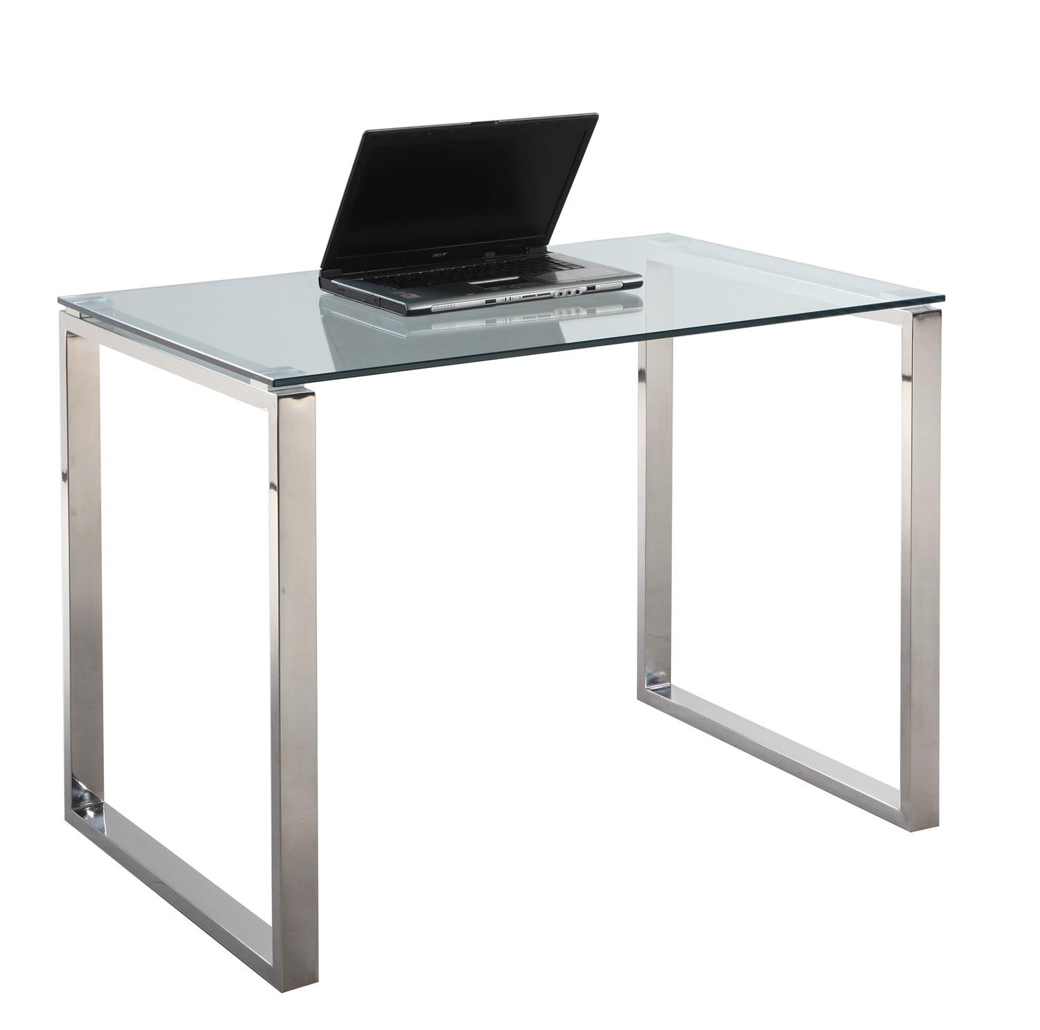 #6F665C  Imports 6931 Small Computer Desk Table Clear Glass/Stainless Steel with 1500x1486 px of Most Effective Small Glass Desks 14861500 wallpaper @ avoidforclosure.info
