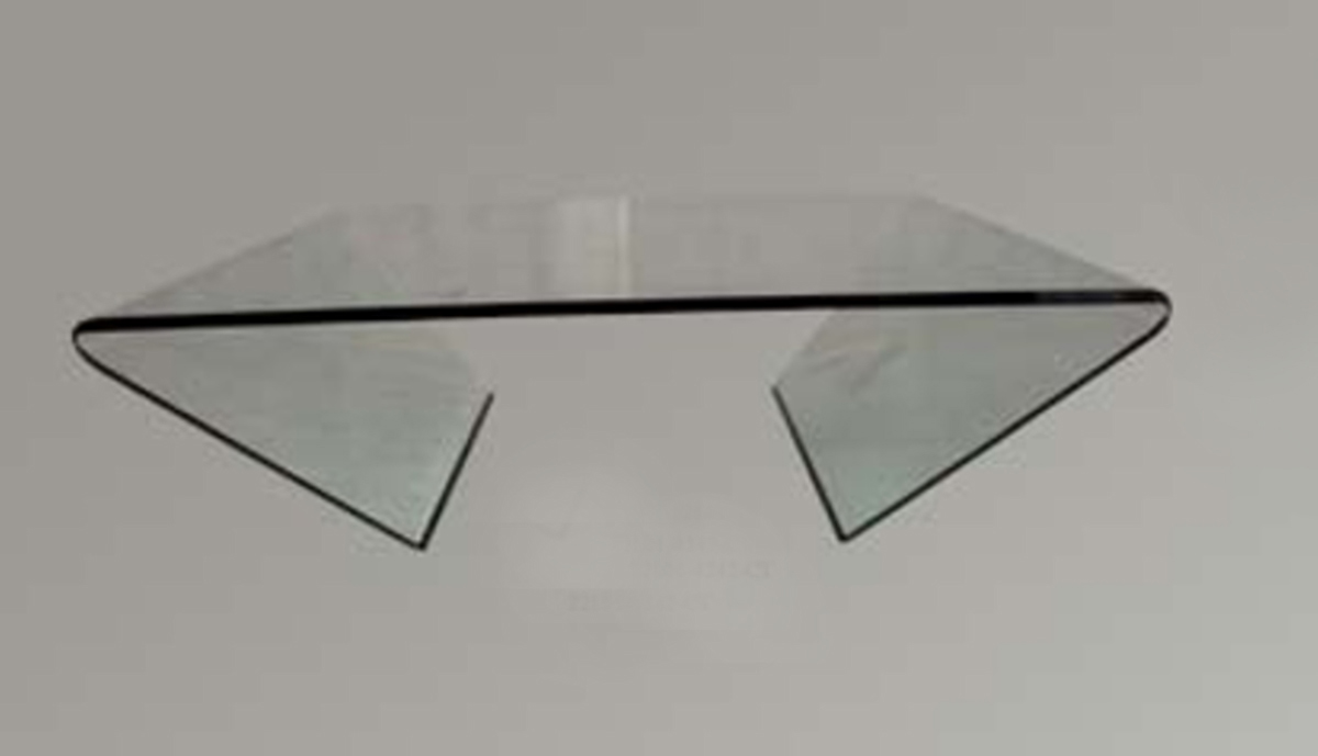 Chintaly Imports Bent Glass Square Cocktail Table