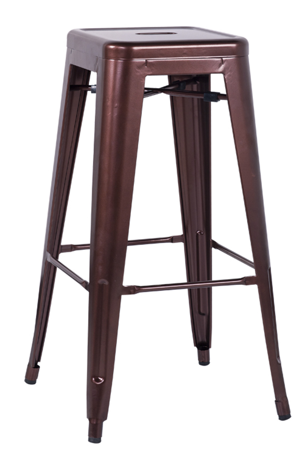 Chintaly Imports 8015 Galvanized Steel Bar Stool - Red Copper
