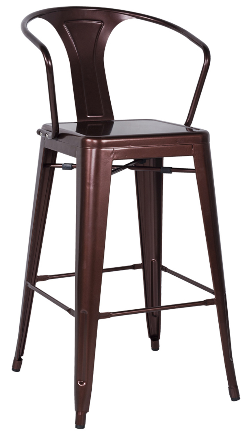 Chintaly Imports 8020 Galvanized Steel Bar Stool - Red Copper