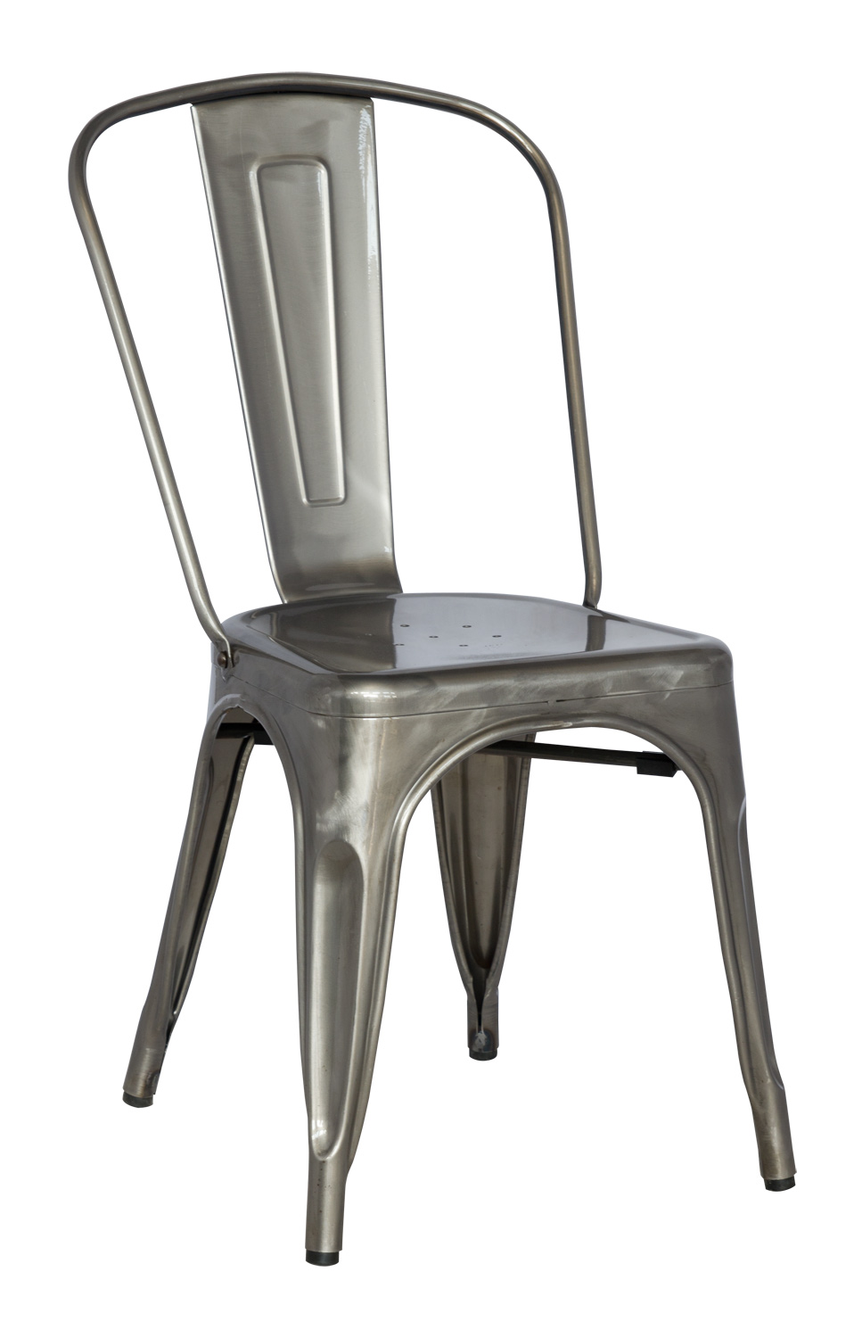 Chintaly Imports 8022 Cold Roll Steel Side Chair - Gun Metal