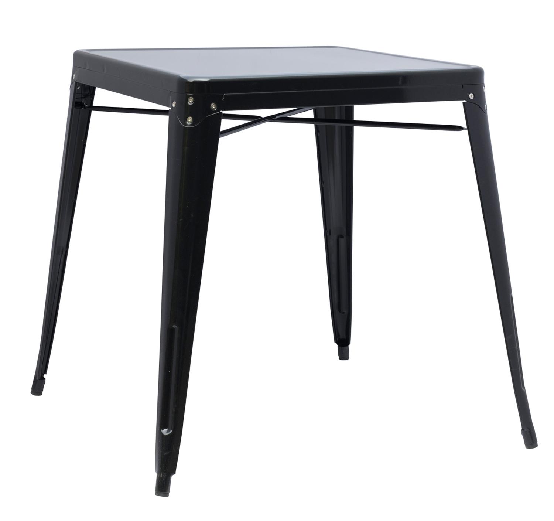 Chintaly Imports 8029 Galvanized Steel Dining Set - Black