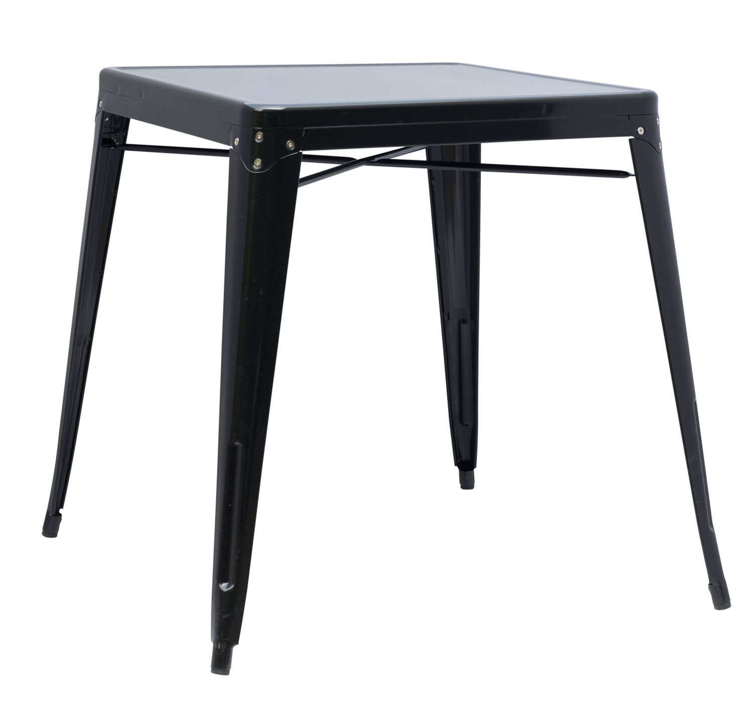 Chintaly Imports 8029 Galvanized Steel Dining Table - Black