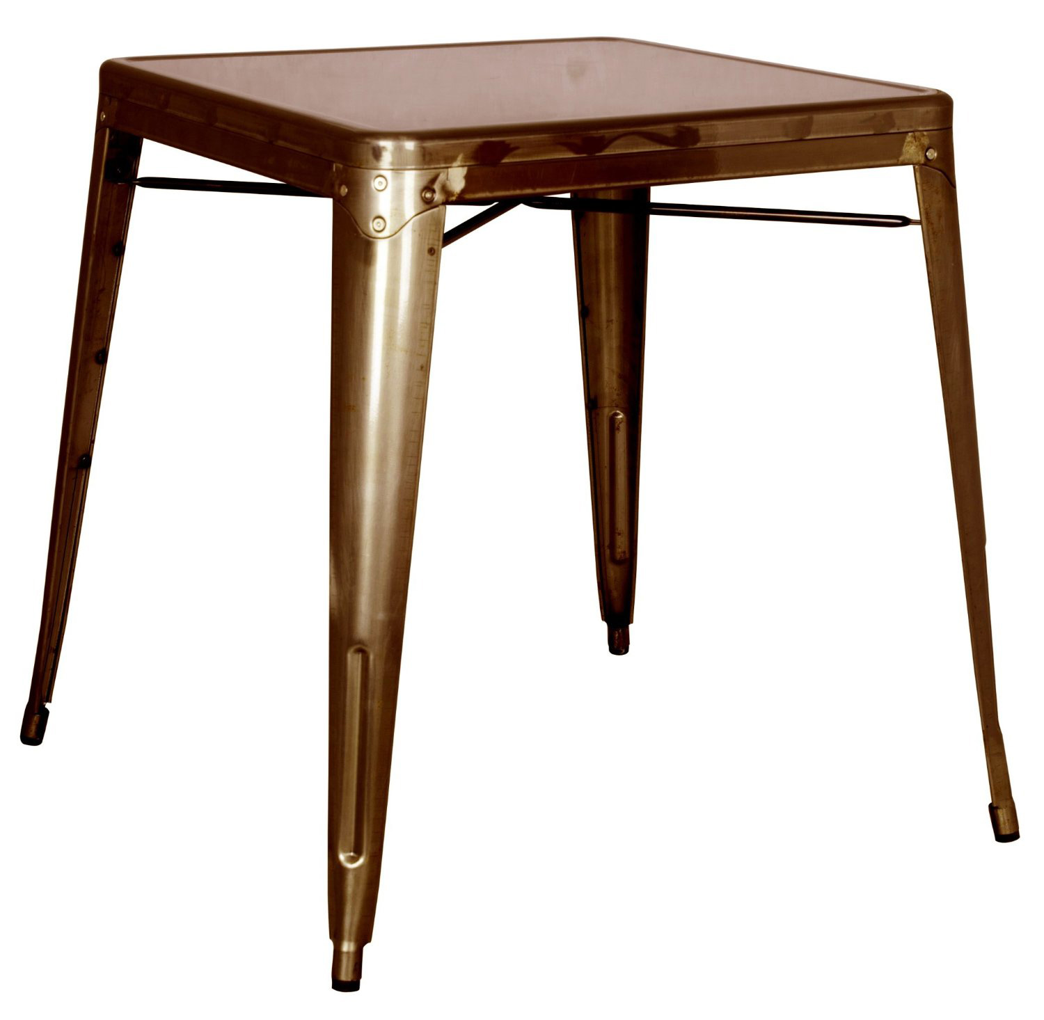 Chintaly Imports 8029 Galvanized Steel Dining Table - Red Copper