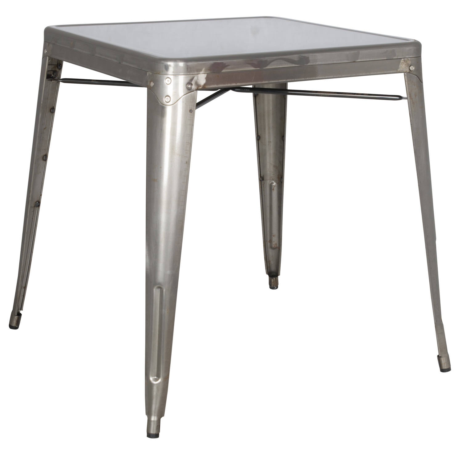 Chintaly Imports 8029 Cold Roll Steel Dining Table - Gun Metal