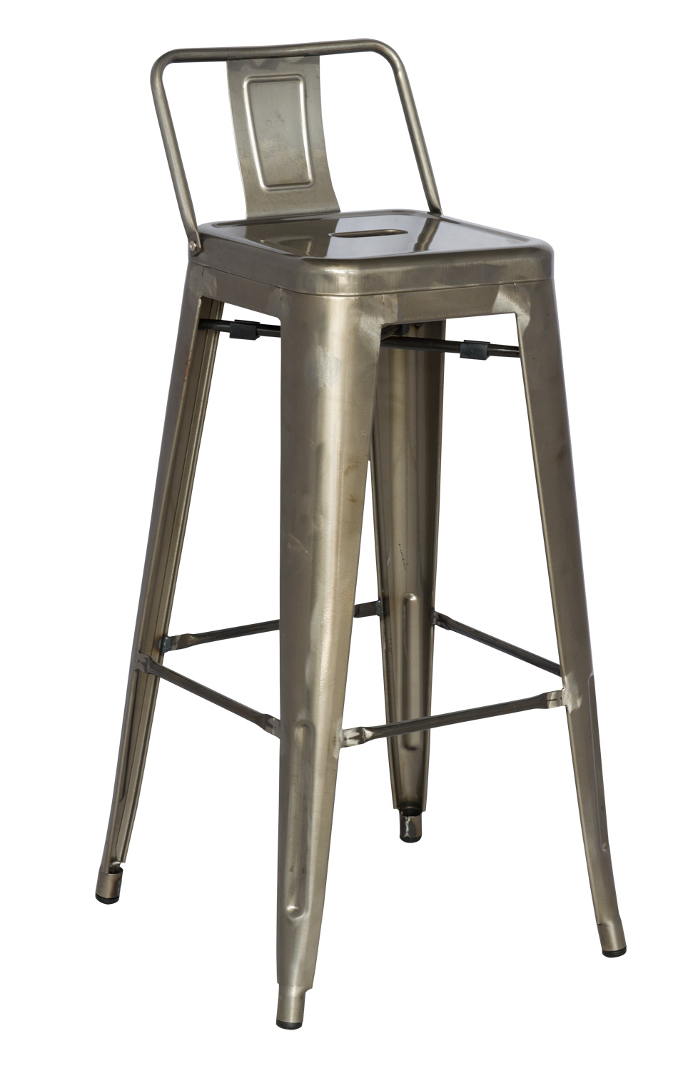 Chintaly Imports 8030 Cold Roll Steel Bar Stool - Gun Metal