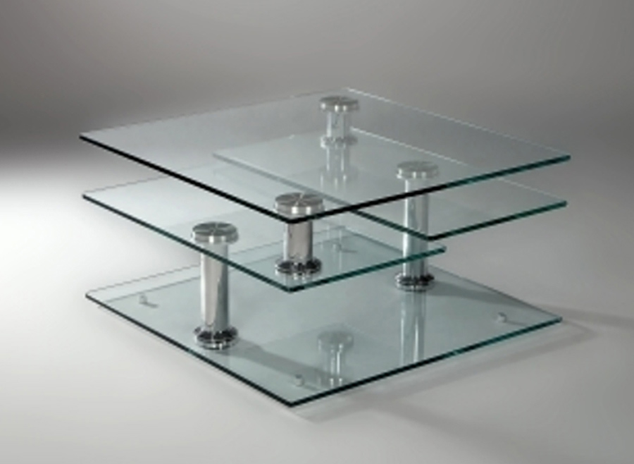 Chintaly Imports 8052 Square Motion Cocktail Table 8052 Ct