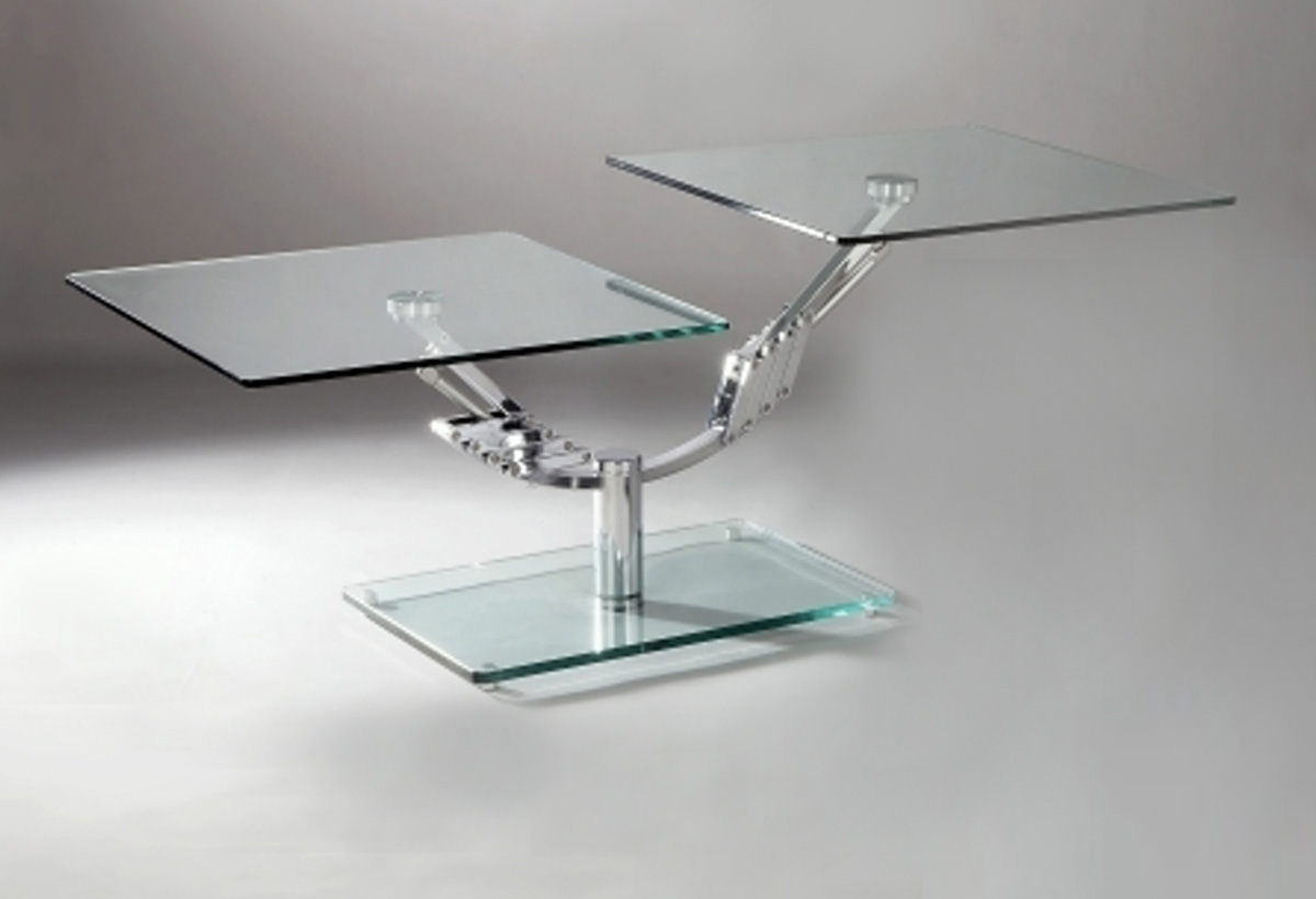 Chintaly Imports 8124 Two Piece Motion Rectangular Cocktail Table