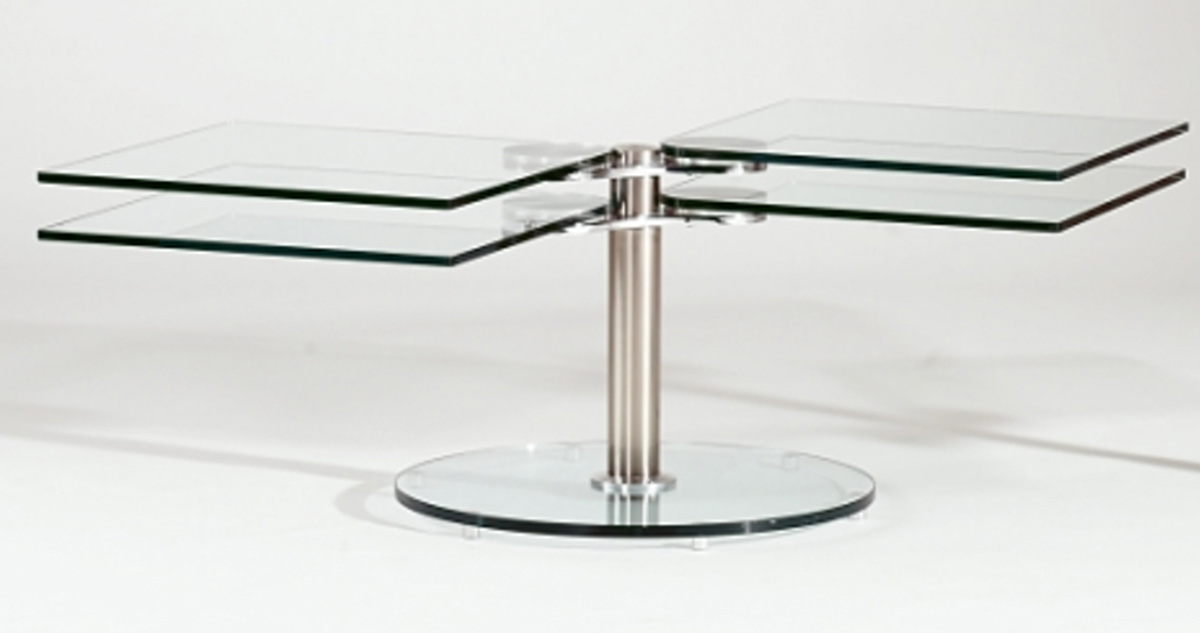 Chintaly Imports 8130 Square Swivel Cocktail Table