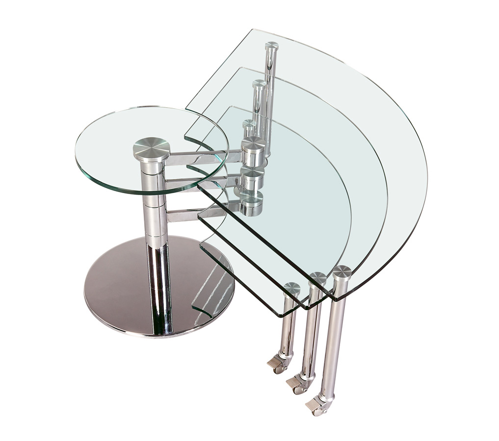 Chintaly Imports 8160 Three Level Motion Cocktail Table