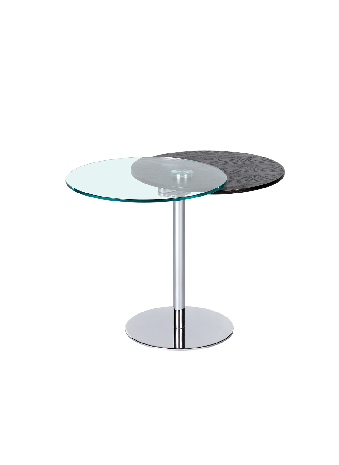 Chintaly Imports 8176 Motion Lamp Table - Glass/Wood/Chrome
