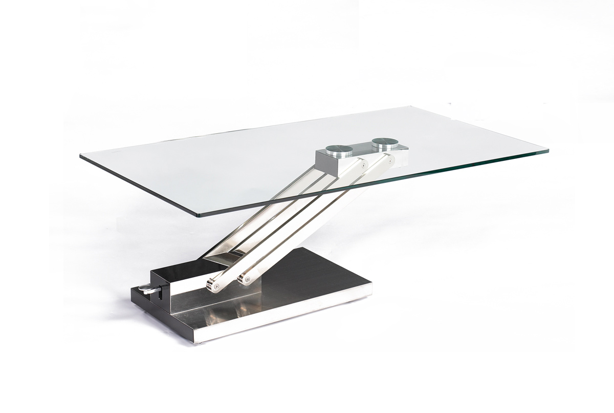 Chintaly Imports 9103 Adjustable Height Cocktail Table
