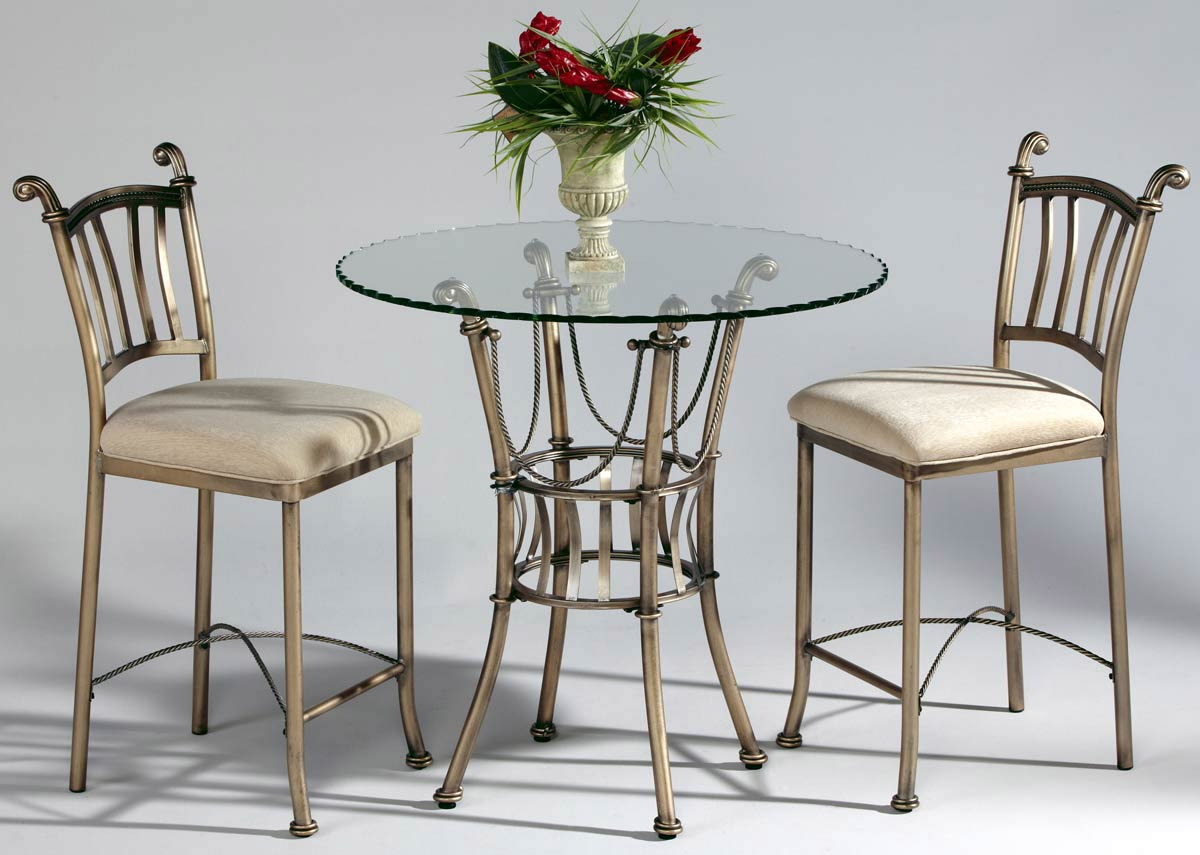 Chintaly Imports Adriana Round Counter Height Dining Set