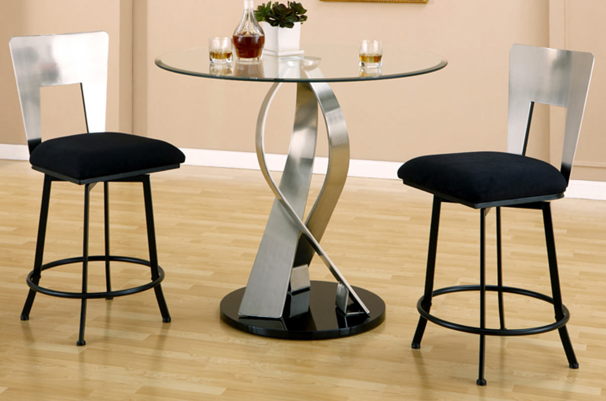 Chintaly Imports Cara Round Counter Height Set