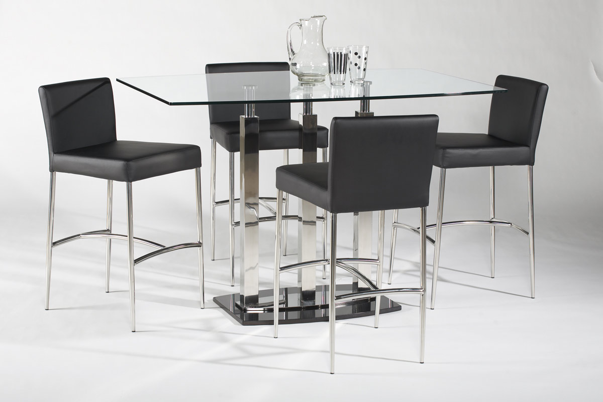 Chintaly Imports Cilla Rectangular Counter Height Dining Set