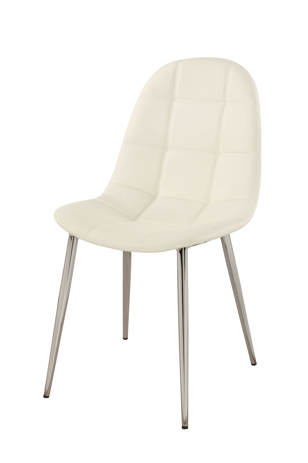 Chintaly Imports Donna Upholstered Back Side Chair - Chrome