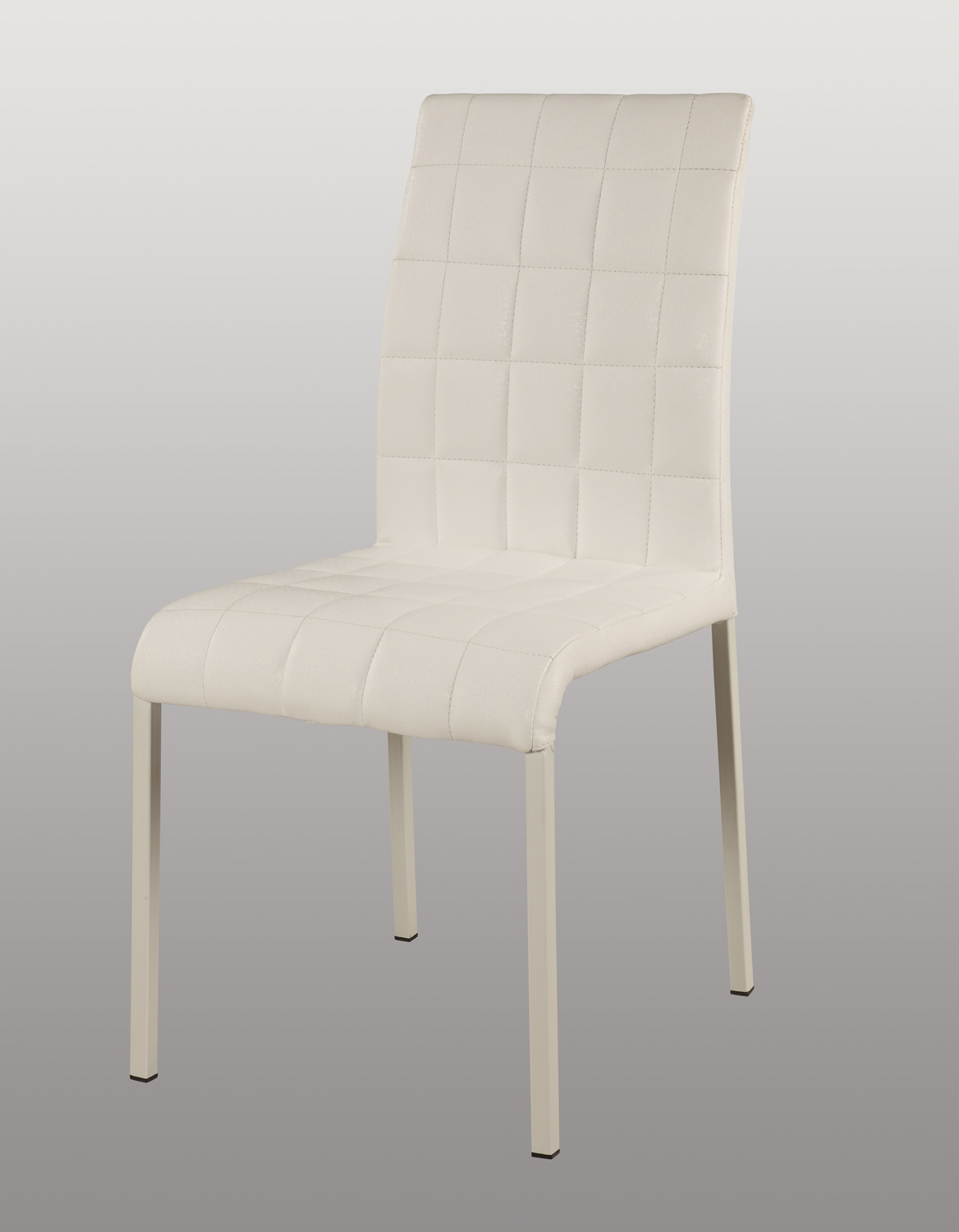 Chintaly Imports Fielding Upholstered Back Side Chair - Gloss White