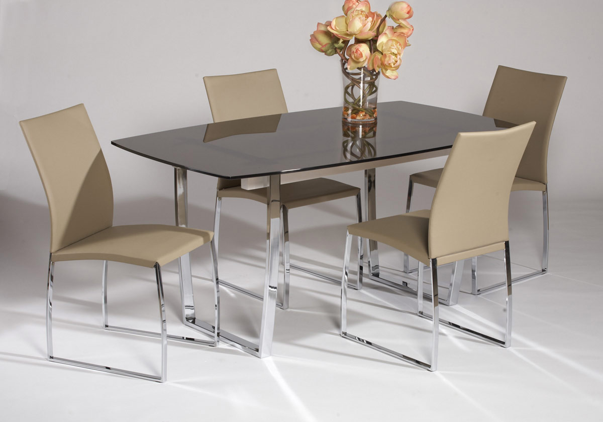 Chintaly Imports Marcy Contemporary Dining Table Collection - Beige