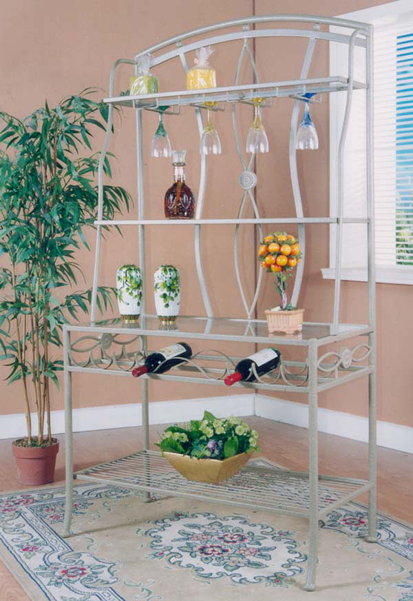 Chintaly Imports Medallion Bakers Rack