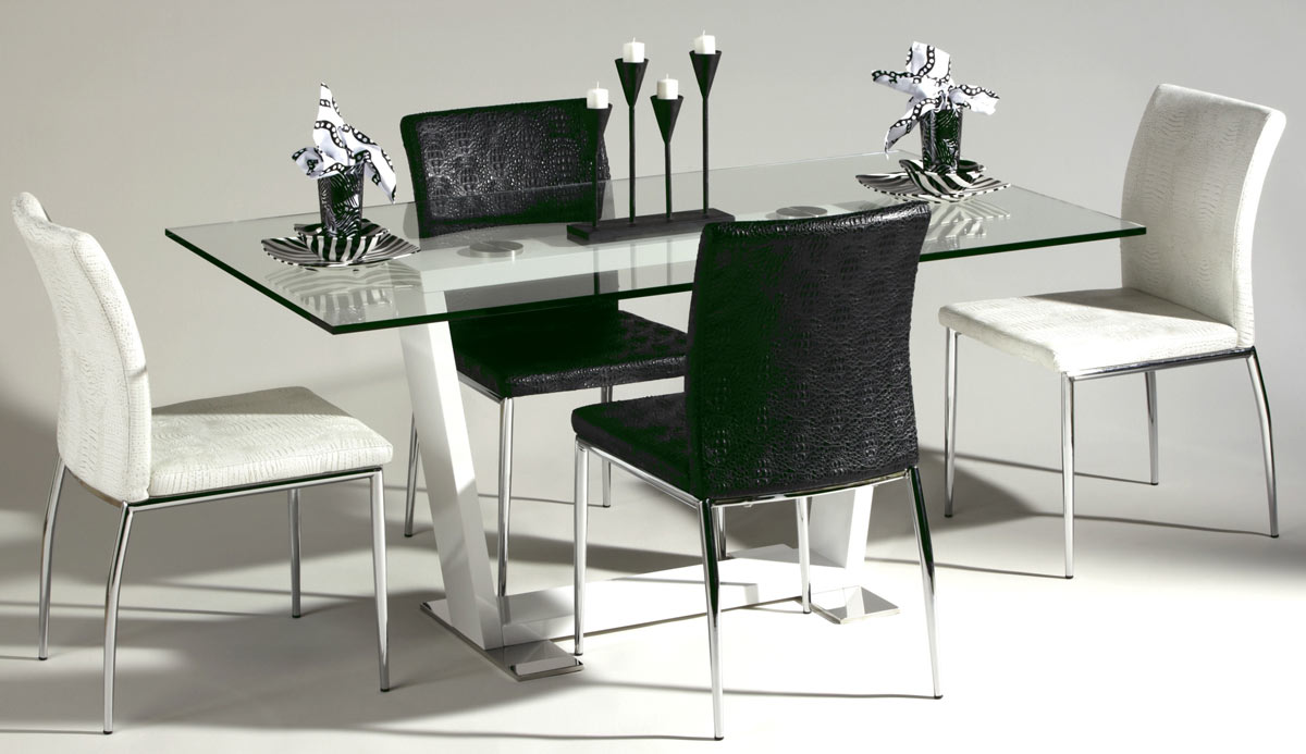 Chintaly Imports Megan Glass Top Dining Collection