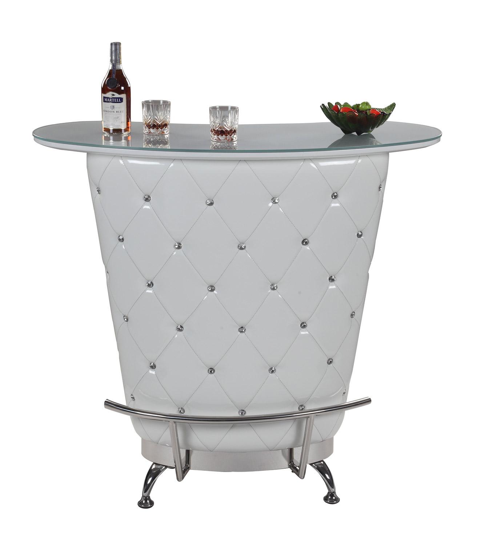 Chintaly Imports Nolita Modern Home Bar Table White Ci