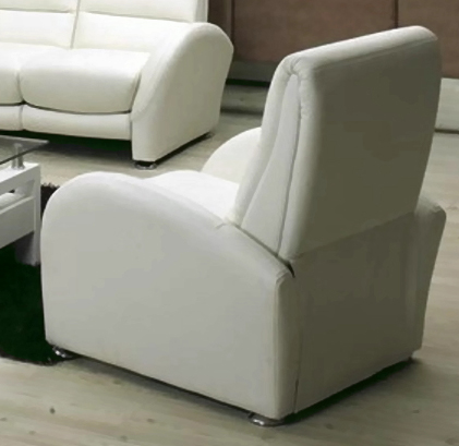 Chintaly Imports San Diego Leather Chair - White Leather Match