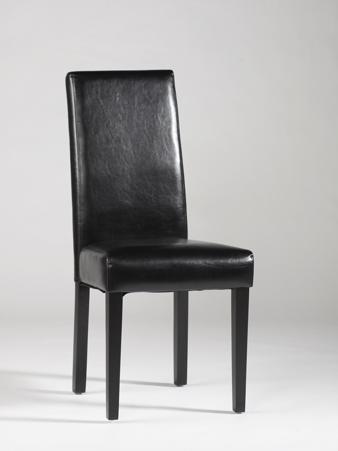 Chintaly Imports Straight Back Parson Chair - Black