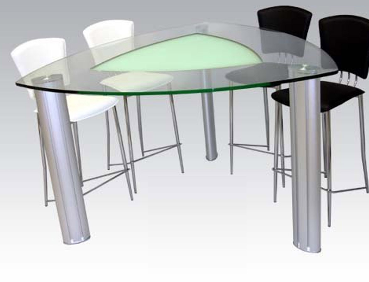 Chintaly Imports Tracy Triangle Counter Height Dining Table Ci Tracy