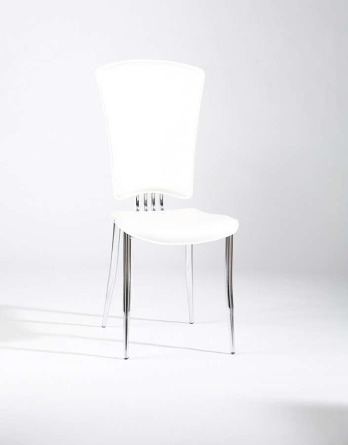 Chintaly Imports Tracy Side Chair - White