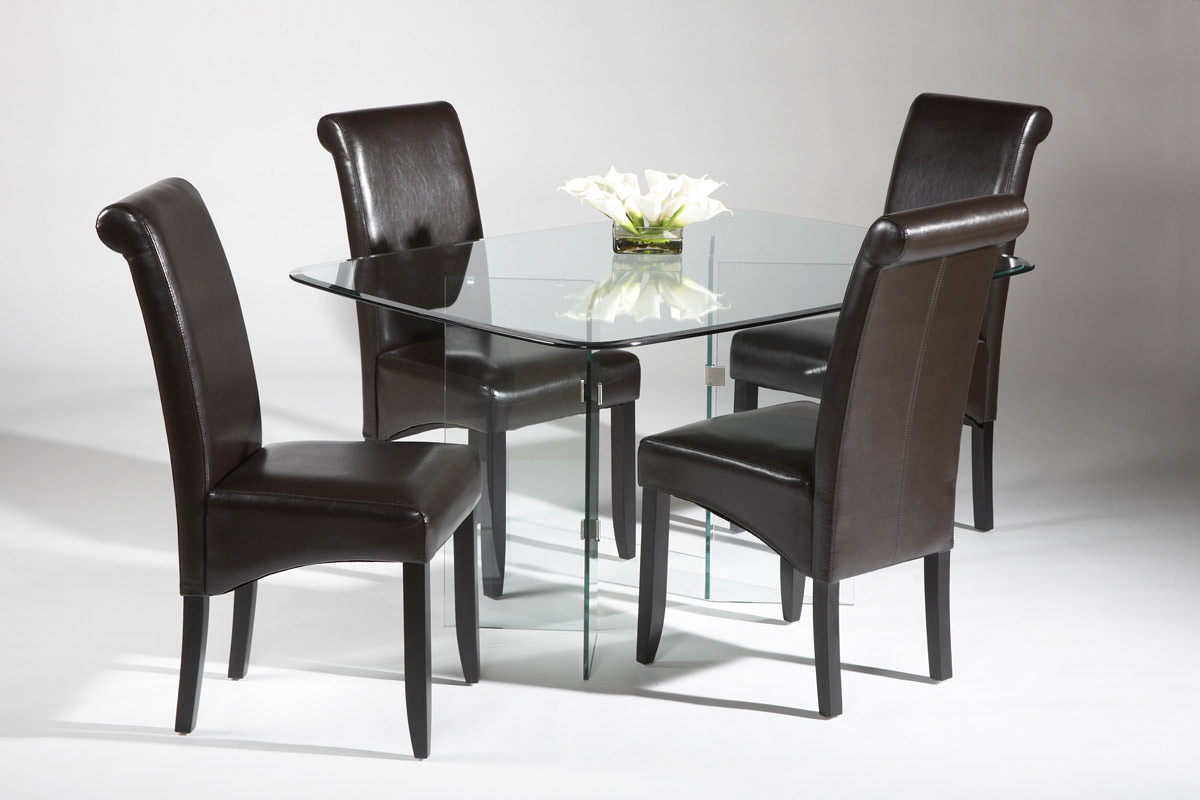 Chintaly Imports VBase Dining Collection Chrome