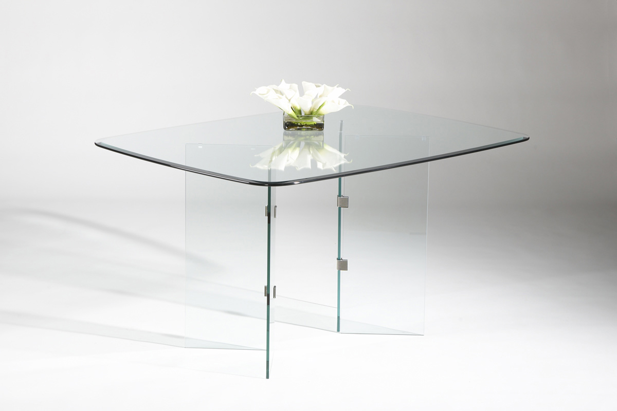 VBase Dining Table Chrome - Chintaly Imports