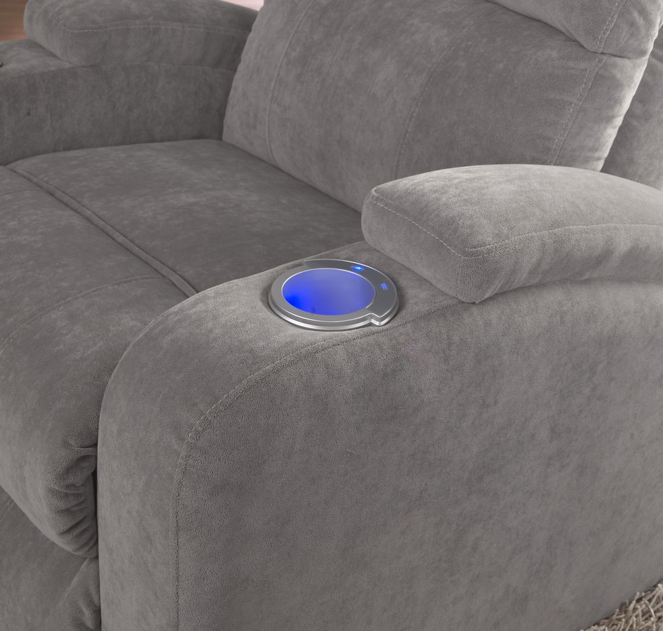 CatNapper The Chiller Power Reclining Chair With IPad Claw And  Lighted/Cooling Cupholder   Cloud