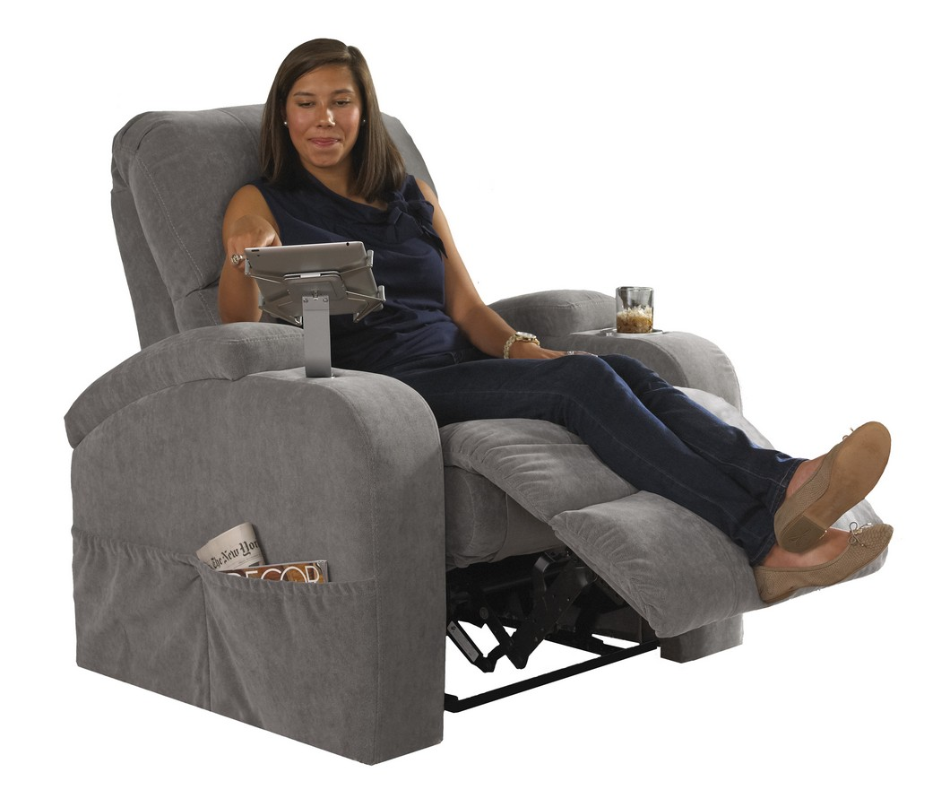 Catner The Chiller Reclining Chair With Ipad Claw And Lighted Cooling Cupholder Cloud