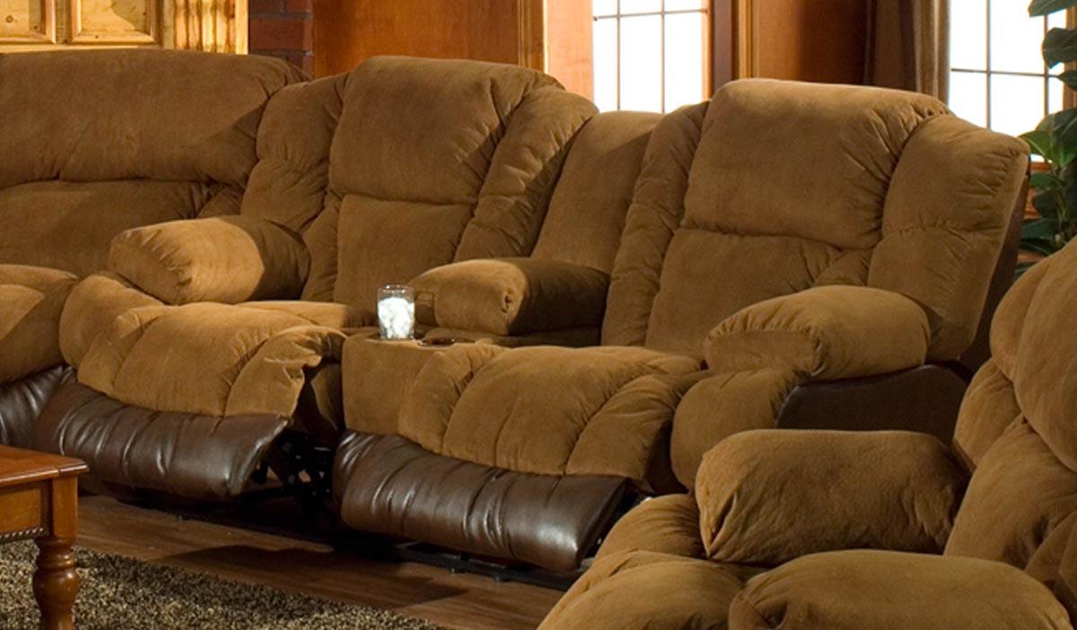 Catnapper Avenger Dual Reclining Console Sofa Cn 1099 At