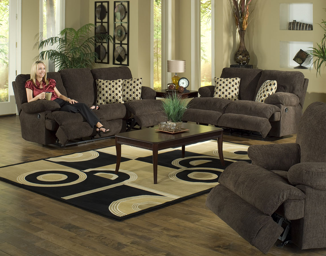 Cheap CatNapper Newport Sofa Set – Chocolate
